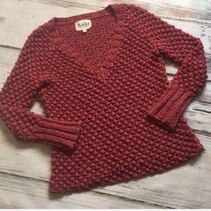 For Love And Lemons Knitz Sweater Red Small